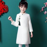 女童改良旗袍秋冬儿童唐装过年拜年汉服中国风宝宝长袖