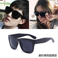 新款韩版复古墨镜男女士太阳镜偏光镜潮人超黑明星款大框太阳眼镜