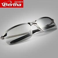 日夜两用偏光变色眼镜驾驶太阳镜男眼睛司机开车钓鱼潮人男士墨镜