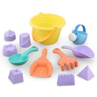 儿童节礼物 男孩儿童沙滩玩具套装玩沙子挖沙漏决明子铲子宝宝洗澡戏水玩具 益智启蒙早教