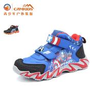 【618大促-每满100减50】CAMKIDS垦牧 男童鞋户外登山鞋2017冬季新款中大童儿童运动鞋