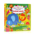 Usborne出品 英文原版 Baby's Very First Books Animal Words 宝宝的启蒙玩玩