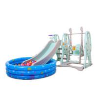 儿童室内滑梯家用多功能滑滑梯宝宝组合滑梯秋千塑料玩具加厚 完美版秋千+球池套餐