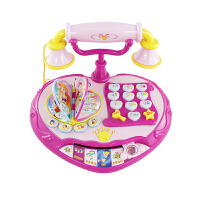 公主电话机益智早教音乐儿童玩具2岁仿真电话小女孩公主玩具