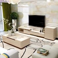 简约现代电视柜茶几组合钢化玻璃烤漆伸缩影视柜家具客厅 电视柜 四斗柜(香槟) 组装
