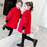 女童秋冬�b中���L拜年服����新年唐�b�和�古�b�h服旗袍裙