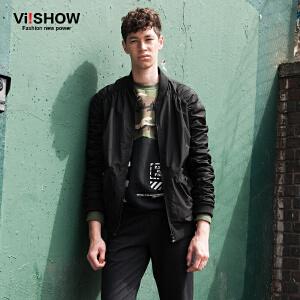 VIISHOW秋装新款男士薄款夹克棒球领夹克外套上衣男jacket潮