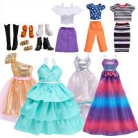【支持礼品卡】芭比娃娃搭配饰品衣服套装包包鞋子项链眼镜时尚配件女孩换装礼服v8a
