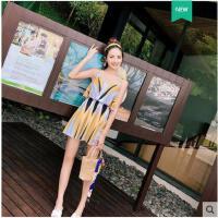 温泉度假游泳衣女分体泳衣女比基尼三件套性感钢托聚拢显瘦遮肚