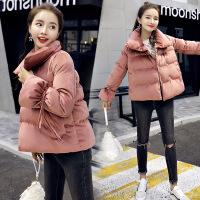 冬装新款韩版时尚棉衣女短款小棉袄宽松休闲显瘦面包 XTZ6501黑色