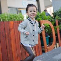 亲子装一家三口韩国童装秋冬新韩版男女童针织衫开衫儿童外套
