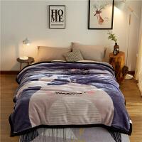 毛毯被子加厚冬季珊瑚绒毯子法兰绒单人双人双层