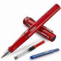 LAMY凌美笔safari狩猎者系列法拉利红F\M\A尖钢笔/墨水笔 秘密花园 为年轻人设计、特殊、有个性的笔款,充分