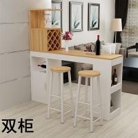 家用吧台现代客厅隔断时尚门厅酒柜餐桌创意玄关柜实用吧台桌 组装