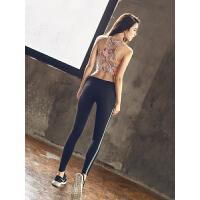 【支持礼品卡】瑜伽服套装女夏季2018新款健身房初学者运动带胸垫性感速干衣p9k