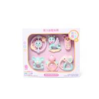 婴幼儿玩具 幼儿手摇铃玩具牙胶磨牙棒六件套装宝宝儿童礼盒装生日礼物 004六件套