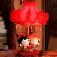 卧室婚庆台灯红色婚房床头灯创意结婚礼物实用婚房台灯新婚礼品