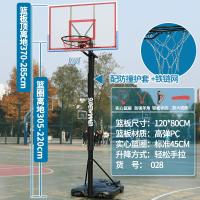 篮球架标准可扣篮室内训练户外篮球框幼儿园儿童移动升降球筐 +护套