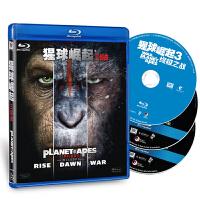 新华书店正版 外国电影 猩球崛起三部曲 3BD50