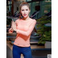 瑜伽服女显瘦跑步衣t恤健身服速干衣休闲运动上衣时尚女长袖上衣运动服女支持礼品卡支付
