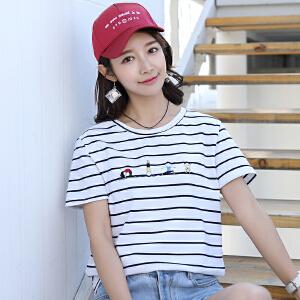 AGECENTRE 2018初夏新款韩版短袖女t恤女装学生衣服宽松显瘦女