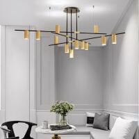 ????北欧客厅吊灯简约现代创意灯具设计师服装店艺术餐厅大气金属吊灯 喜迎国庆