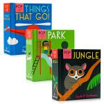 Pop-up启蒙立体小书3册 Things That Go/Park/Jungle英文原版绘本 认知识物早教启蒙绘本