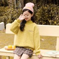 女童毛衣套头秋冬装中大童加绒儿童打底衫