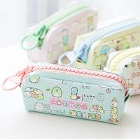 韩国简约笔袋女生角落生物大容量文具盒初中生高中生大拉链笔包