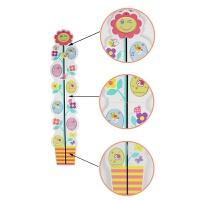 创意木制儿童花朵成长身高尺 宝宝房间装饰品