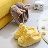 儿童棉拖鞋秋冬男女童居家室内软底防滑保暖卡通毛绒可爱宝宝拖鞋