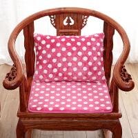波点冬季实木沙发垫中式毛绒防滑长椅垫四季通用组合海绵坐垫