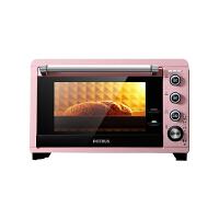 柏翠(petrus)电烤箱家用烘焙多功能全自动小型烤蛋糕32升大容量PE3035 粉色