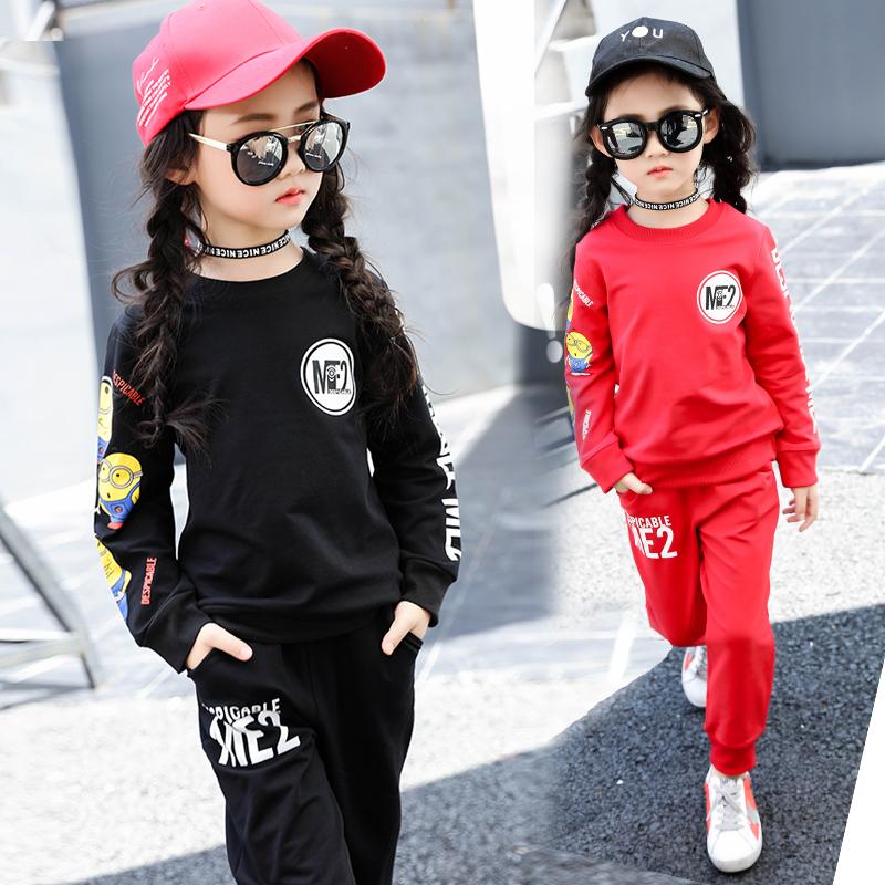 套头卫衣运动裤两件套潮 女童秋装套装2018新款童装中大童春秋儿童