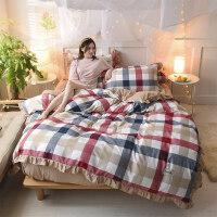 欧式公主风水洗棉四件套被套三件套床上用品床单床品被罩