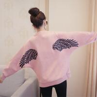 大码女装外套新款大码翅膀刺绣麂皮外套XT