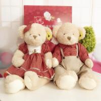 泰迪熊公仔穿衣毛绒玩具熊情侣一对压床娃娃抱抱熊女生日结婚礼物 抖音