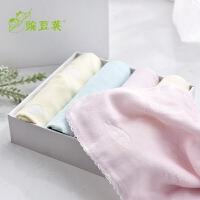 婴儿纱布口水巾初生儿超柔小毛巾洗脸宝宝方巾超软