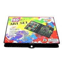 豪华150件儿童绘画套装美术水彩笔套装礼盒画画笔蜡笔小学生用品 黑色 150豪华