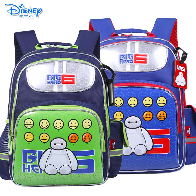 Disney/迪士尼 大白小学生1-4年级儿童卡通双肩减负透气书包IB0021