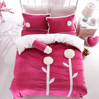 家�床上四件套冬短毛�q珊瑚�q加厚被套床裙�色可��4件套1.5米1.8m床