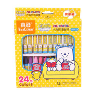 真彩油画棒2966A-24色促销幼儿蜡笔套装无毒酷丫 图画油画棒