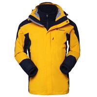 探路者TOREAD男款秋冬三合一两件套防水透湿保暖T套绒冲锋衣TAWC91886