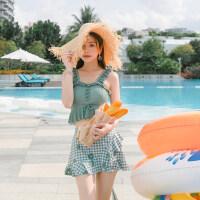 游泳衣女ins风日系可爱新款保守分体显瘦学生韩国仙女范泳装