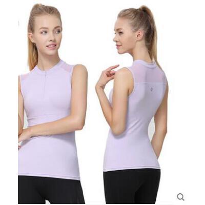 瑜伽服上衣女带胸垫裸感薄款防走光运动健身瑜伽背心 品质保证 售后无忧