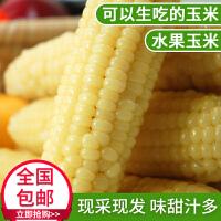 【5斤包邮】水果玉米新鲜甜玉米棒现摘现发即食生吃香甜脆嫩爆浆蔬菜