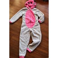 辰妈家~儿童中大童珊瑚绒连体衣睡衣家居服 女童造型连体衣