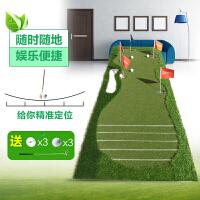 20180414180505637高尔夫球果岭推杆练习垫器 室内外练习毯 教练版刻度练习垫 0.8*3.5米