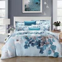 家纺双面天丝婚庆贡缎床上用品四件套被套床单双人床品1.51.8m床