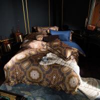 家纺欧式天丝纯棉四件套 床品套件双人1.5/1.8米全棉床单被套 2.0米床:被套220*240 床单250*270